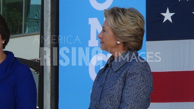 Hillary Clinton At Campaign Early Vote Event In Des Moines, IA