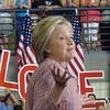 Hillary Clinton At Campaign Rally In Greensboro, NC
