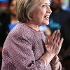 "Hillary Clinton celebrated her primary victory in her home state of New York and seemed ready to shift into general election mode on Tuesday night 19th April 2016,Clinton said she was deeply grateful for the support Democrats showed her once again in New York. Voters elected previously elected her twice to the U.S. Senate in 2000 and 2006.""New Yorkers, you've always had my back, and I've always tried to have yours,"" she said. ""Because of you, this campaign is the only one -- Democratic or Republican -- to win more than 10 million votes.""...pic Mohammed Jaffer-SnapsIndia"