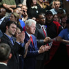 "President Bill Clinton witness Hillary Clinton celebrated her primary victory in her home state of New York and seemed ready to shift into general election mode on Tuesday night 19th April 2016,Clinton said she was deeply grateful for the support Democrats showed her once again in New York. Voters elected previously elected her twice to the U.S. Senate in 2000 and 2006.""New Yorkers, you've always had my back, and I've always tried to have yours,"" she said. ""Because of you, this campaign is the only one -- Democratic or Republican -- to win more than 10 million votes.""...pic Mohammed Jaffer-SnapsIndia"