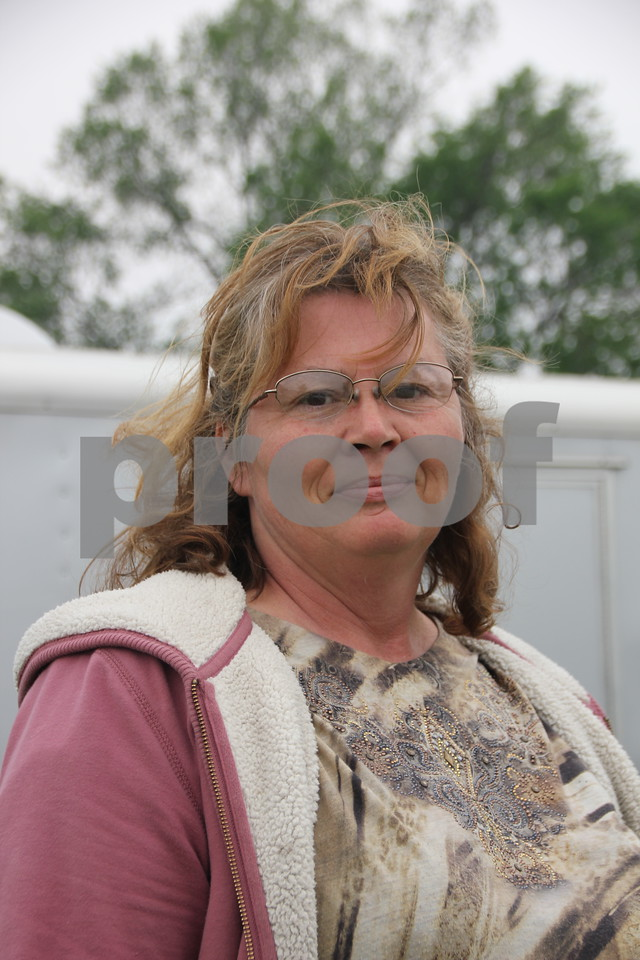 Saturday, May 7. 2016 the Webster County Fairgrounds in Fort Dodge held the Hillbilly Sale Flea Market. Pictured here is: Darla Trenary, who enjoyed the event.