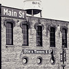 Main Street, Hilliard Ohio. Showing Oties Tavern and Grill, and the old water tower