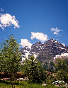 Maroon Bells Skyline - Portrait