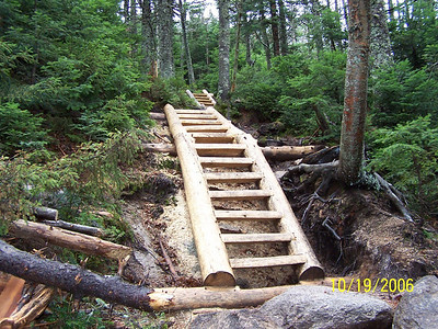 New ladders on the Kinsman Ridge Trail.