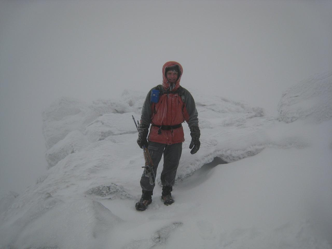 Jim on Summit of Mt. Monroe