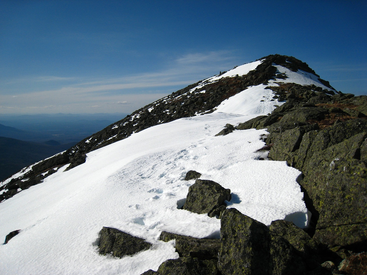 Looking up to the Summit of Mt. Martyr Eusebius (formerly Clay)