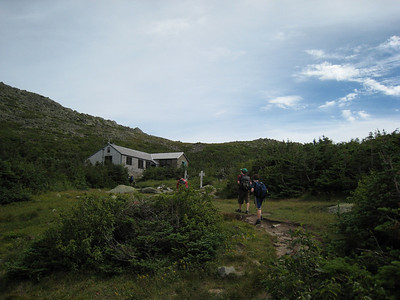 Arrival at the Hut