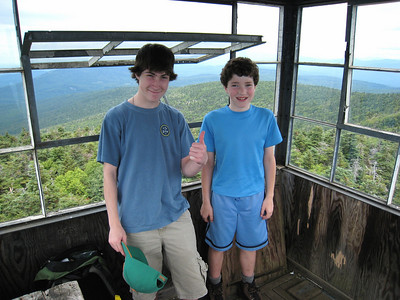Dan and Sam in the Fire Tower