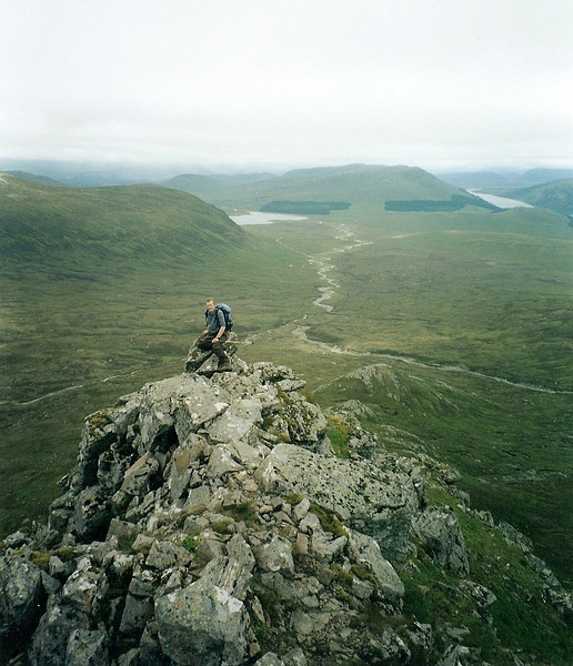 Graham on the Long Leacachs of Ben Alder.