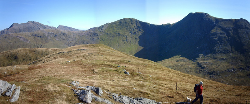 Sgor na h-Ulaidh from Meall Lighiche, near Glen Coe.