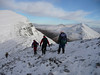 On Aonach Beag during a Club Meet at Steall Hut.
