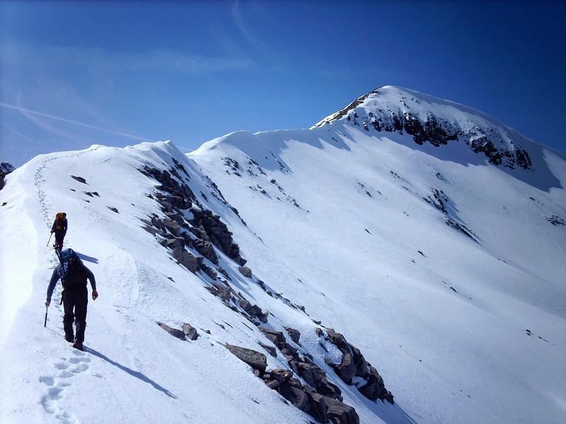 On the east ridge of Carn Mor Dearg.