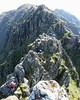 Scrambling on the pinnacles of the Aonach Eagach, Glen Coe
