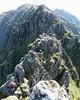 Scrambling on the pinnacles of the Aonach Eagach, Glen Coe