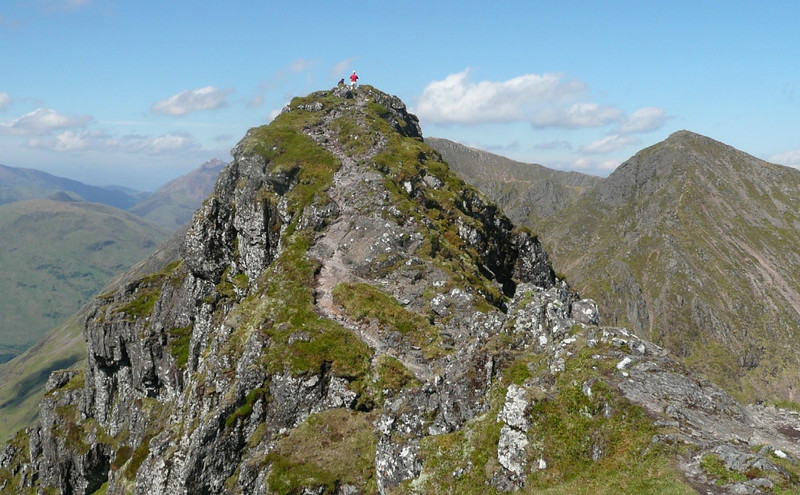 On the Aonach Eagach, Glen Coe