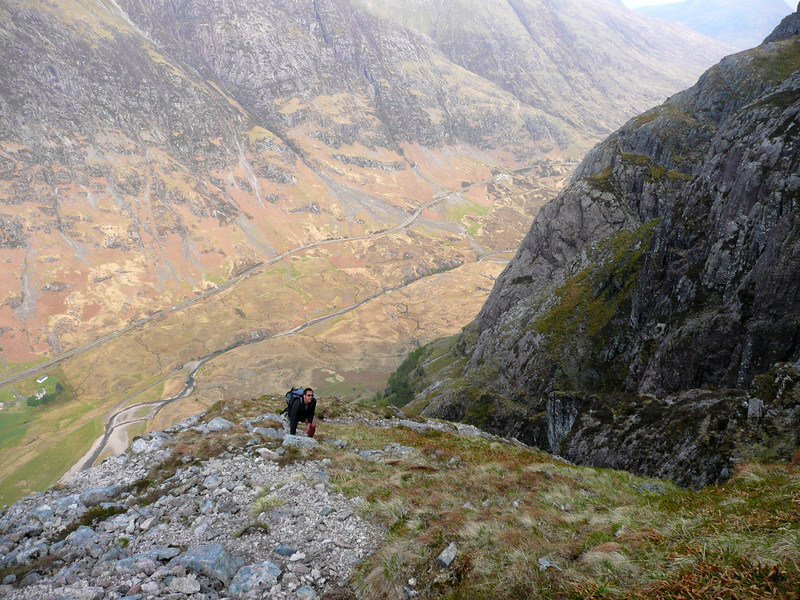 On the nose of Aonach Dubh high above Glencoe