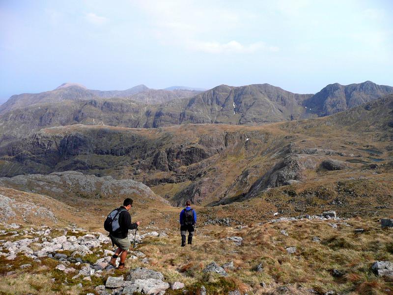Descent into Coire nan Lochan from Aonach Dubh