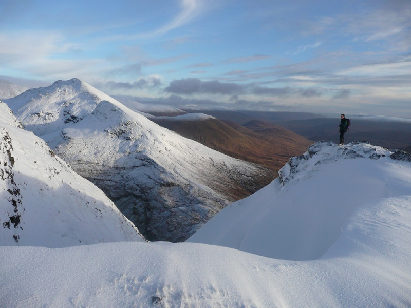 On Aonach Beag with the Grey Corries behind.