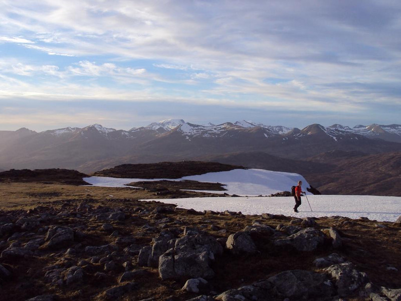 Brian on Beinn a'Chrulaiste with Ben Nevis in background