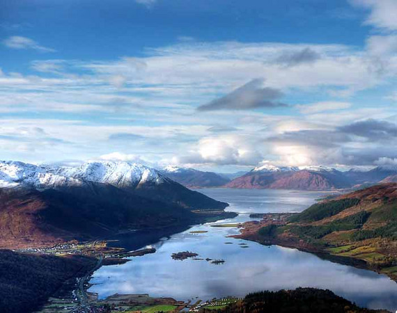 Looking over Loch Leven to Ardgour, from the Pap of Glencoe