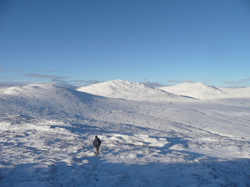 The two Carn Dearg's at the head of Glen Roy