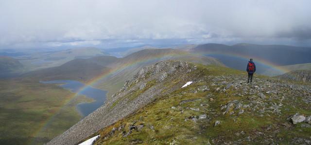 Rainbow over Ben Alder