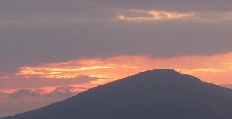 Sunset over Beinn a'Chrulaiste, Glen Coe.