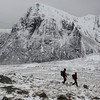 On the way down with the Buachaille in the background