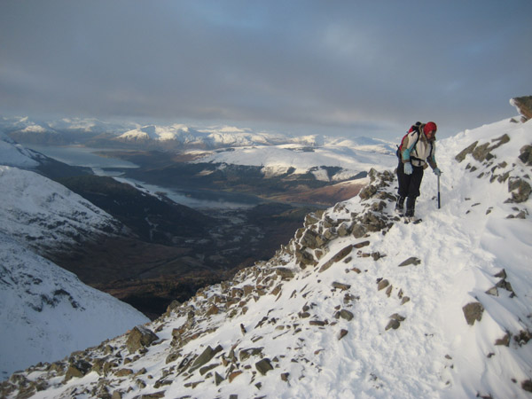 Jen on Stob Coire an Lochan with Ardgour in the background