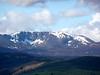 A distant Lochnagar from the top of Craigendarroch above Ballater