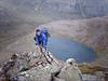 Near the top of Angel's Ridge with Lochan Uaine below.