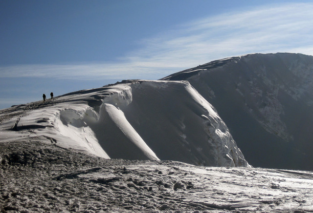 Cornices over Coire an-t Sneachda, Cairngorms