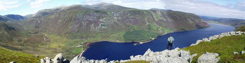 View across Loch Muick to Lochnagar.
