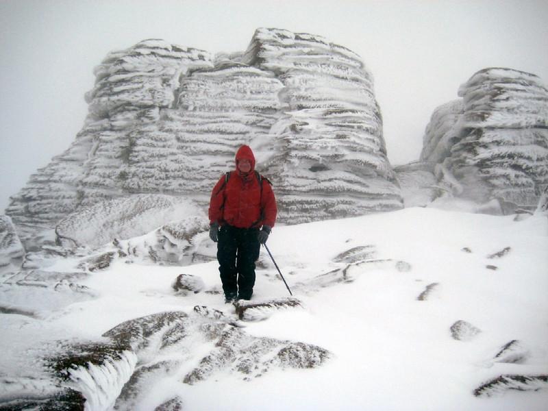 Granite tors on the summit plateau of Beinn a'Mheadhoin