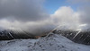 View north from Carn a'Mhaim, with sunlight in the Lairig Ghru and Ben Macdui on the right
