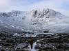 Coire Etchachan and the Hutcheson Memorial Hut in the central Cairngorm massif.