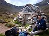 Garbh Coire Refuge below Braeriach and Angel's Peak.