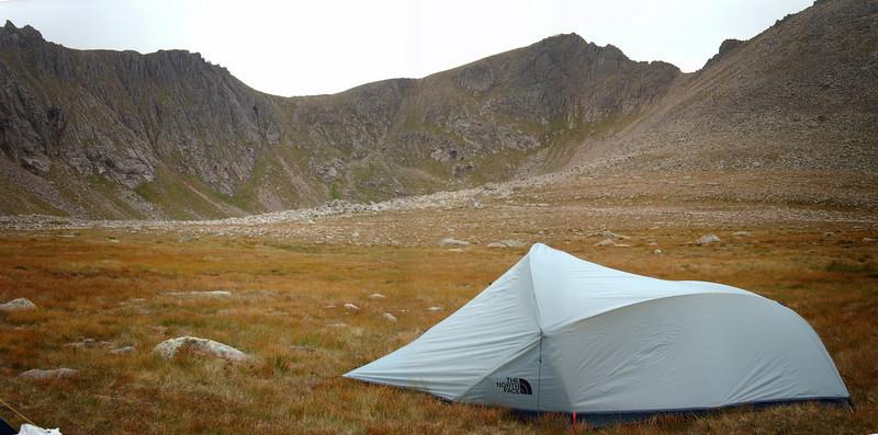 Camping in Coire an t-Sneachda, northern corries.