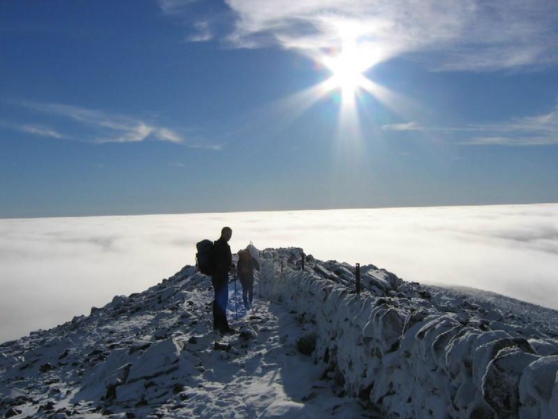 Temperature inversion on Creag Leacach, Glen Shee.