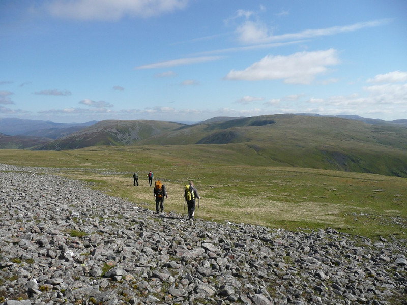 Heading to Cairn of Claise from Glas Maol, Glen Shee