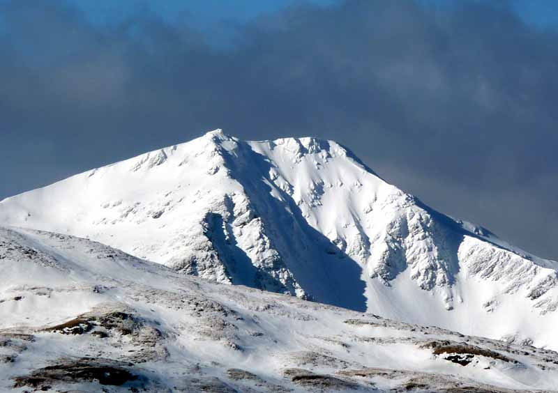 Ben Lui with Central gully prominent