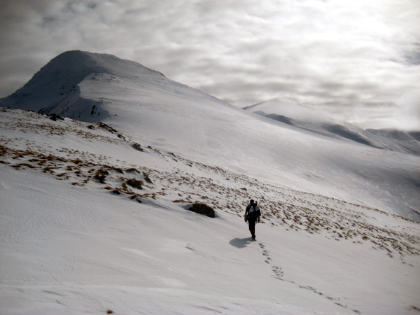 On route to An Stuc (Lawers range) from the north.