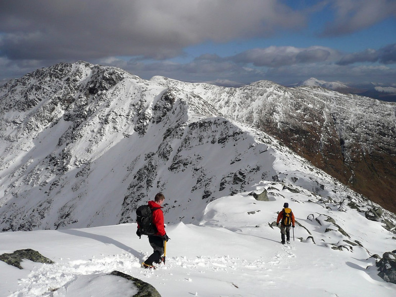 On the ridge from Ben Cruachan to Stob Diamh