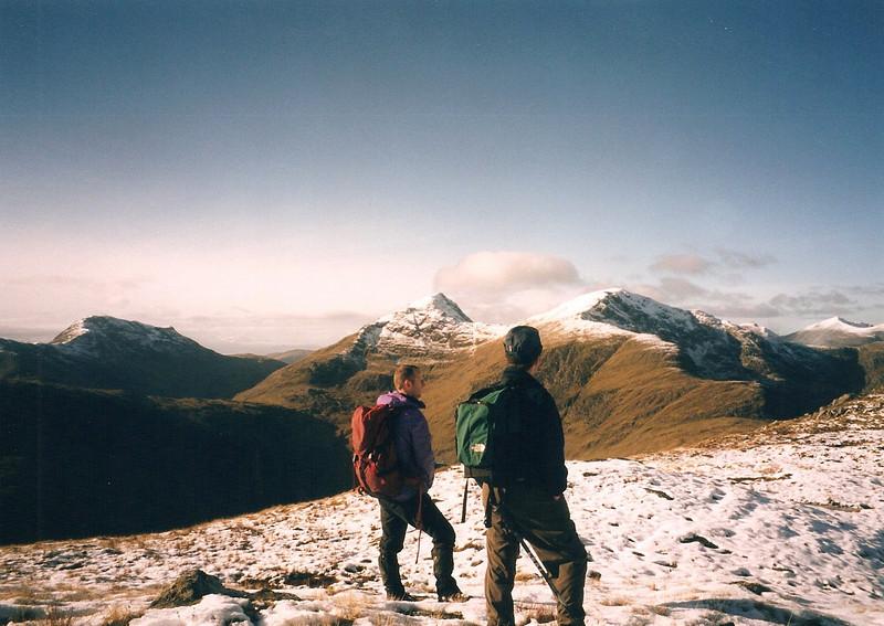 On the south ridge of Beinn Maol Chaluim looking to Beinn Fhionnlaidh & Sgor na h-Ulaidh