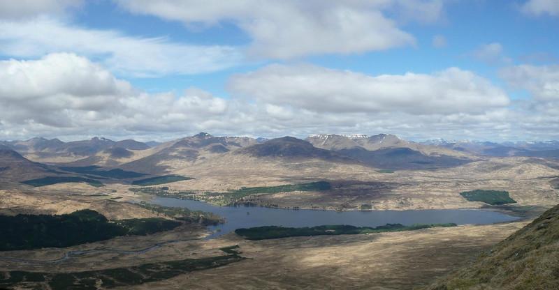 Looking over Loch Tulla to the Blackmount. Taken from SW ridge of Beinn an Dothaidh
