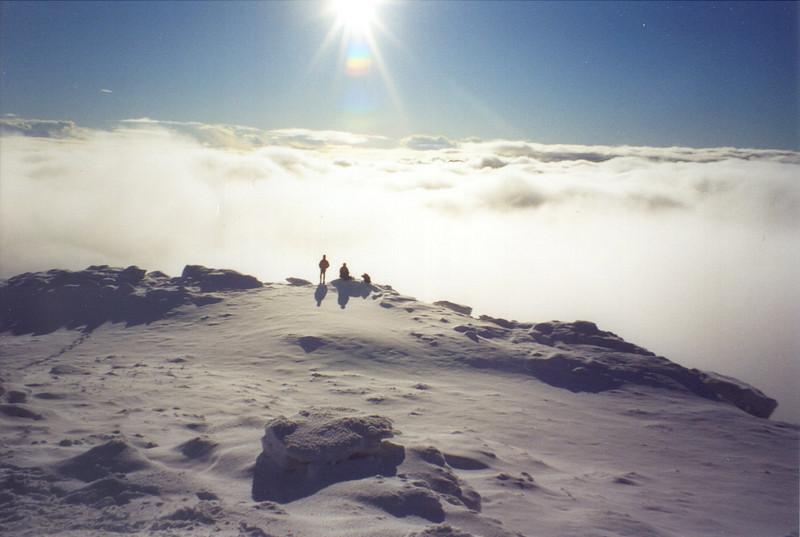 Cloud inversion on Beinn Dorain.