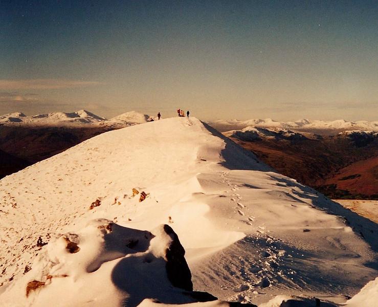 Approaching the summit of Ben Vorlich (Loch Earn)