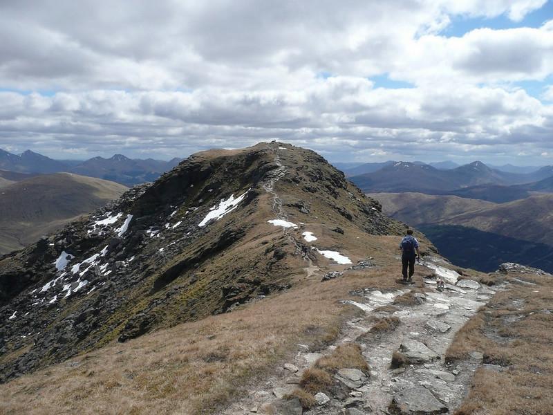 Approaching the top of Beinn Dorain