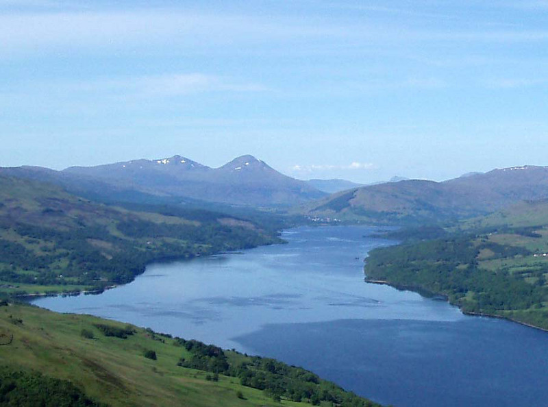 Looking across Loch Tay to Stob Binnein and Ben More from Ben Bhreac.