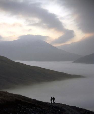 Descending Beinn Challum